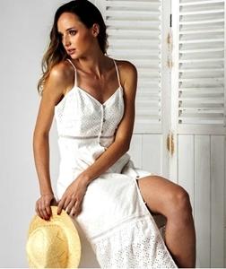 Picture of DRESS HANA LONG WHITE